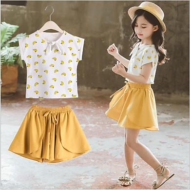 Sét bộ áo thun và quần giả chân váy cho bé gái từ 3 đến 14 tuổi SET027