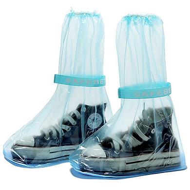 Ủng bọc giày đi mưa đế cao su chống trượt - Màu Xanh