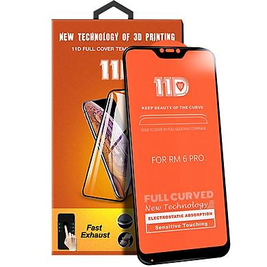 Kính cường lực 11D cho Xiaomi Mi A2 Lite / Redmi 6 Pro Full viền Đen