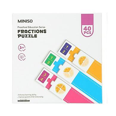 Bộ xếp hình phát triển trí tuệ trẻ em mầm non Miniso 210g - Hàng chính hãng