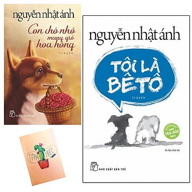 Combo Con Chó Nhỏ Mang Giỏ Hoa Hồng và Tôi Là Bêtô (Tặng Kèm Sổ Tay Xương Rồng)