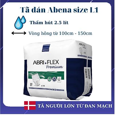 [Thấm hút 2.5 lít] Tã dán người lớn Abena Abri Form Premium L1 (10 miếng) - Nhập khẩu Đan Mạch