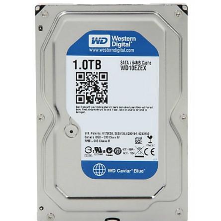 Ổ Cứng HDD WD Blue™ 1TB/64MB/7200rpm/3.5 - WD10EZEX - Hàng chính hãng