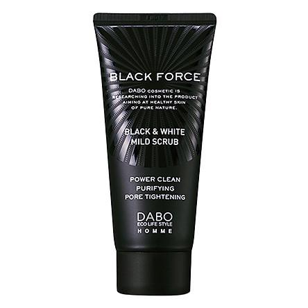 Sữa Rửa Mặt Than Dành Cho Nam Dabo Black Force (120ml)