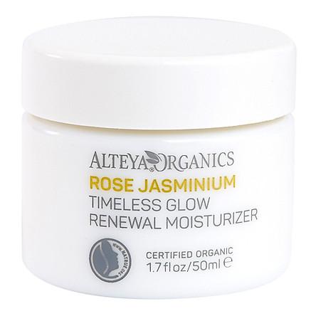 Kem Dưỡng Ẩm Hữu Cơ Rose Jasminium Timeless Glow Renewal Moisturizer Alteya Organics RJTGRM (50ml)