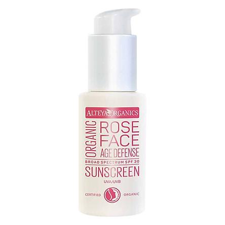 Kem Chống Nắng Hoa Hồng Hữu Cơ Cho Mặt Organic Sunscreen Rose Face Cream SPF30 Alteya Organics OSFC (50ml)
