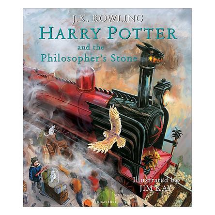 Harry Potter Part 1: Harry Potter And The Philosopher's Stone (Hardback) Illustrated Edition (Harry Potter và Hòn đá Phù Thủy) (English Book)