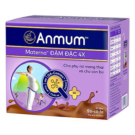 Hộp Sữa Nước Anmum Materna Chocolate (4 x 125 ml)
