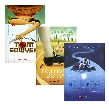 Combo Gulliver Du Ký + Những Cuộc Phiêu Lưu Của Huckleberry Finn + Những Cuộc Phiêu Lưu Của Tom Sawyer (Trọn Bộ 3 Cuốn)