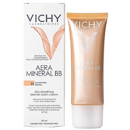 Kem Lót Nền Che Khuyết Điểm Và Chống Nắng Vichy Aera Mineral BB (40ml)