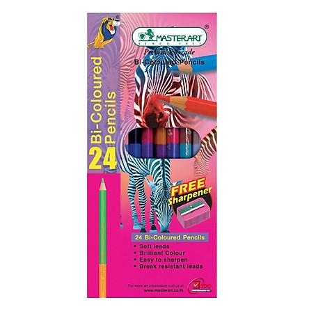Bút Chì 2 Đầu 24 Màu Masterart Elephant 24C