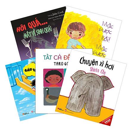 Combo Ehon Nhật Bản Dành Cho Trẻ Từ 0 -3 Tuổi (Bộ 2) - Tặng Kèm Sách Người Mỹ Giúp Con Ham Đọc Sách