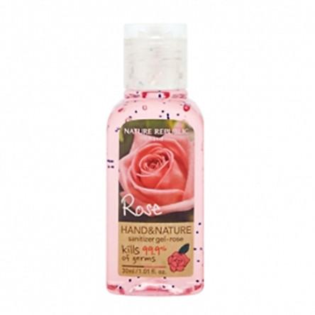 Gel Rửa Tay Khô Nature Republic Hand & Nature Sanitizer Gel-Rose (30ml)