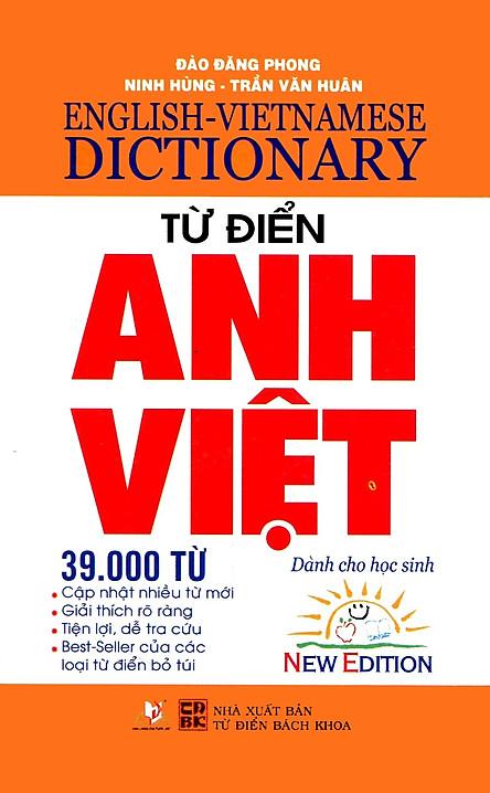 Từ Điển Anh - Việt 39.000 Từ (Tái Bản)