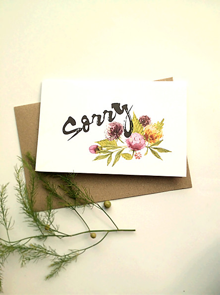Thiệp Papermix Sorry - S11 (Trắng)