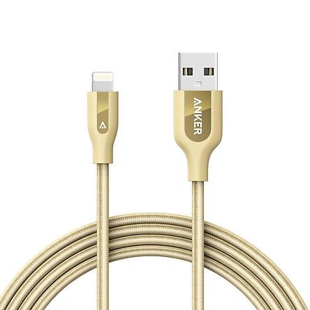 Dây Cáp Sạc Lightning Cho iPhone Anker PowerLine+ 1.8m (Không Kèm Bao Da) - A8122 - Hàng Chính Hãng