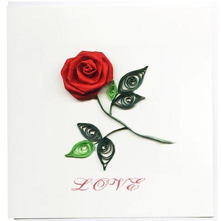 Thiệp Giấy Xoắn Việt Net - Love Mẫu 1 (10 x 10 cm)