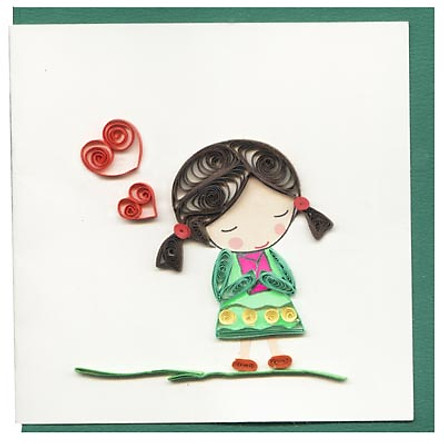 Thiệp Giấy Xoắn Việt Net - My Love (10 x 10 cm)