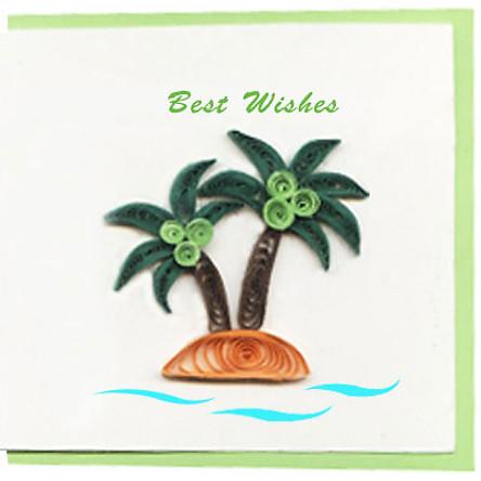 Thiệp Best Wishes Việt Net - Ốc Đảo Nhỏ (10 x 10 cm)