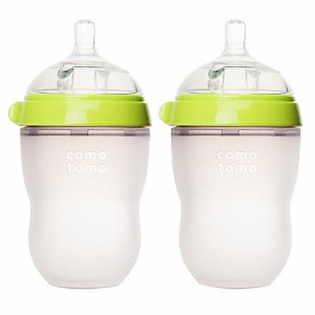 Bộ 2 Bình Sữa Silicone Comotomo CT00003 250ml - Xanh