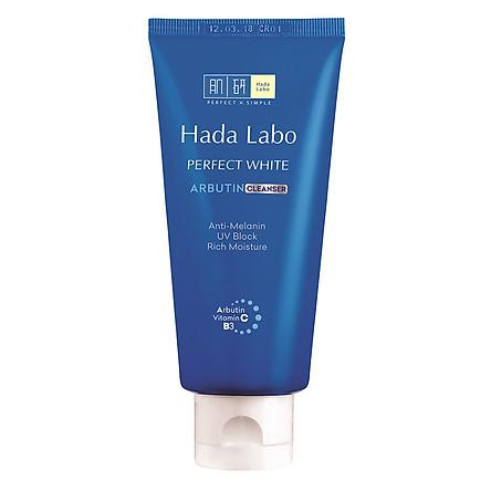 Kem Rửa Mặt Dưỡng Trắng Hada Labo Perfect White Arbutin Cleanser (80g)