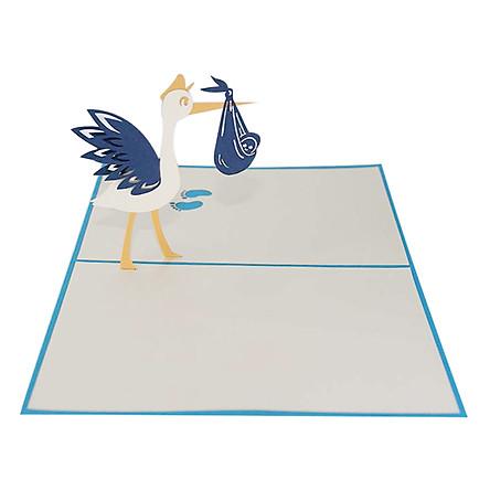 Thiệp Nổi 3D Ninrio - Stork Carry Baby - SS180