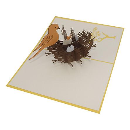 Thiệp Nổi 3D Ninrio - Bird Nest - SS183
