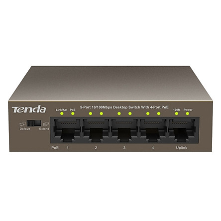 Bộ Chia Mạng Switch 5-Cổng 10/100Mbps Với 4 Cổng PoE Tenda TEF1105P - Hàng Chính Hãng