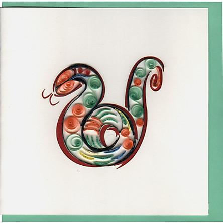 Thiệp Giấy Xoắn Việt Net - Astrology - Tuổi Tỵ (15 x 15 cm)