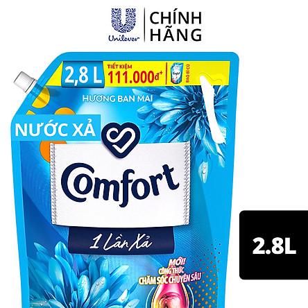 Nước Xả Vải Comfort Giữ Màu & Bền Vải Một Lần Xả Hương Ban Mai túi 2.8L