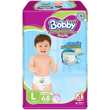 Tã Quần Bobby Ultra Jumbo Siêu Siêu Lớn L68 (Size L) - 68 Miếng