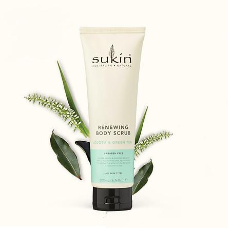 Kem tẩy tế bào chết cho cơ thể Sukin Renewing Body Scrub with Green Tea & Jojoba 200ml