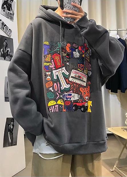 Áo khoác Hoodie Nam Nữ phong cách Harajuku nỉ bông đẹp và ấm New thu đông