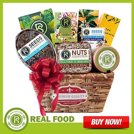 Giỏ quà Sức Khỏe: Phúc Lộc 8 Món Cao Cấp Real Food