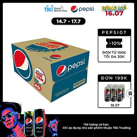 Thùng 24 Chai Nước Ngọt Có Gas Pepsi (330ml/ Chai)