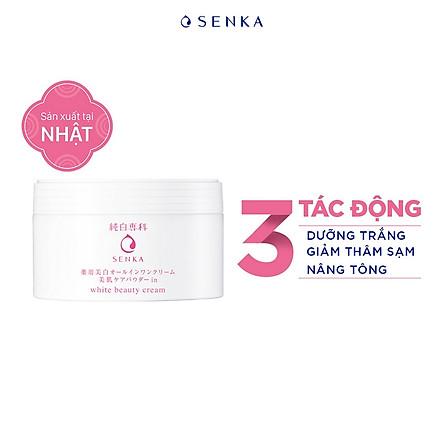 Kem dưỡng trắng da nâng tông 3 trong 1 Senka White Beauty 100g