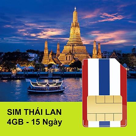 Sim 4G Thái Lan Gói 4GB Trong 15 Ngày