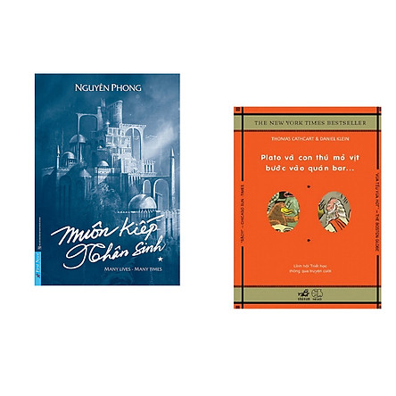 Combo 2 cuốn sách:  Muôn Kiếp Nhân Sinh (Bìa Cứng) + Plato và con thú mỏ vịt bước vào quán bar (Tái Bản)