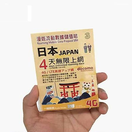 Sim du lịch Nhật Bản 4 ngày – 4GB - Hàng Chính Hãng