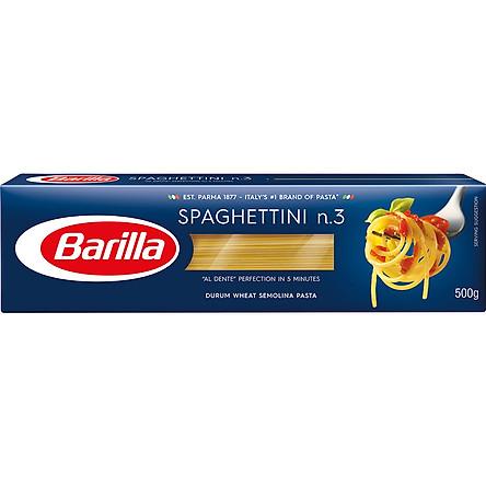 Mì Barilla Sợi Hình Các Cỡ Spaghettini (500g)
