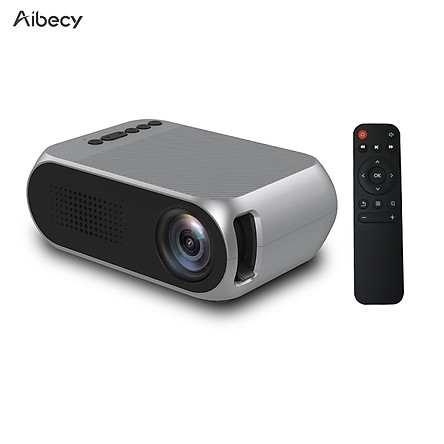 Máy chiếu mini Aibecy YG320 1080p đèn chiếu 600 Lumens cho gia đình