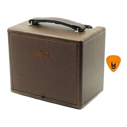 Ampli AGA SC-20-III Cho Đàn Guitar & Nhạc cụ mộc Acoustic (công suất 20W) - Bộ khuyếch đại âm thanh Amplifier Amply SC20 - Kèm Móng Gẩy DreamMaker