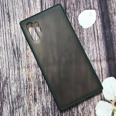 Ốp lưng dành cho Samsung Galaxy Note 10 Plus nhám viền silicon chống sốc cao cấp - Hàng Nhập Khẩu