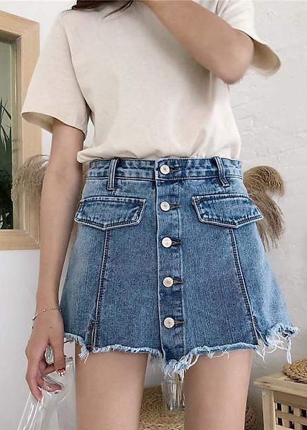 Váy jeans phối quần nhiều nút Mã: VN708
