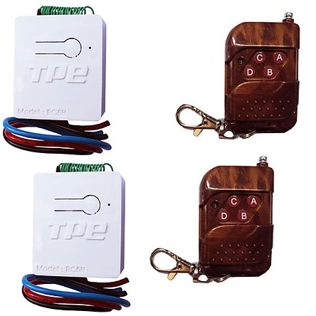 Bộ 02 công tắc điều khiển từ xa TPE RC5H-220V, 800W + 2 Remote RM04, 315Mhz, Sản xuất tại Việt Nam