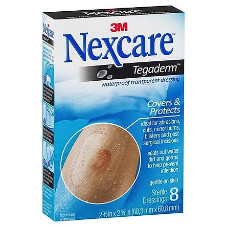 Hộp 8 miếng gạc vô trùng chống thấm nước trong suốt Nexcare 3M GVT-H1624
