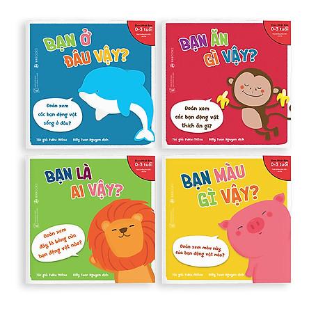 Sách Ehon - Combo 4 cuốn Bạn là ai vậy - Dành cho trẻ từ 0 - 3 tuổi