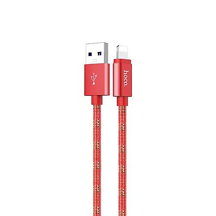 Cáp sạc và truyền dữ liệu Hoco Lightning (Bản đặc Biệt) hỗ trợ sạc nhanh 3A, cáp bọc dù, chống rối, chống đứt, UPL12, dành cho iPhone/iPad - Hàng chính hãng