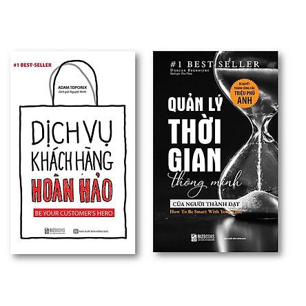 Bộ 2 Cuốn sách ; Dịch Vụ Khách Hàng Hoàn Hảo: Be your customer's hero - Quản lý thời gian thông minh của người  thành đạt: Bí quyết thành công của triệu phú Anh t