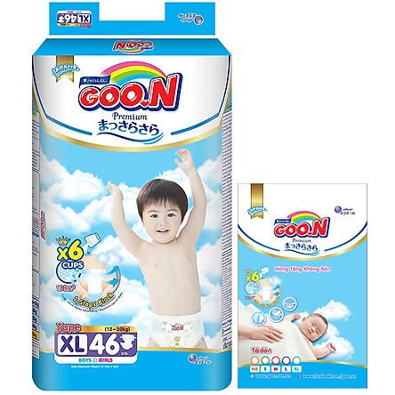 Tã Dán Goo.n Premium Gói Cực Đại XL46 (46 Miếng)- Tặng thêm 8 miếng cùng size